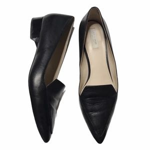 Cole Haan Black Leather Pointy Toe Flats